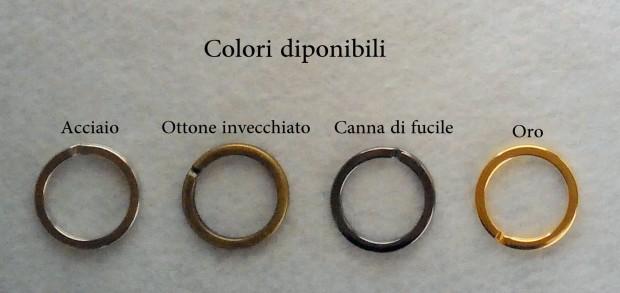 Anelli in acciaio cromato (art. min1001)