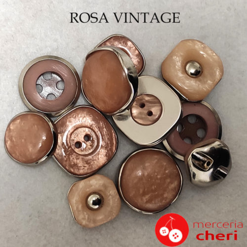 Rosa Vintage Anni 70 Art V10561