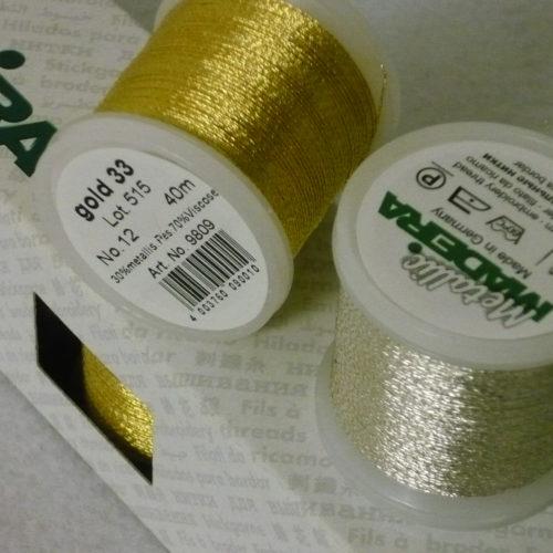 Filo Da Ricamo  Metallic Madeira GOLD