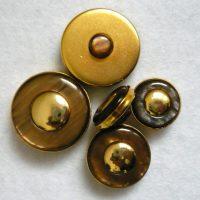 Bottone Degli Anni 60 In Metallo E Resina