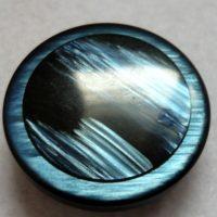 Bottone  Blu In Resina Vintage