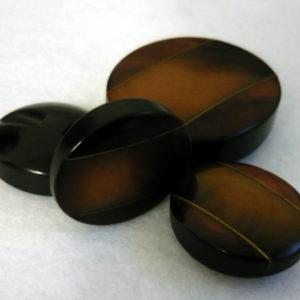 Bottone Ovale Anni 60, Bottoni In Resina Con Inserto Metallico
