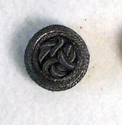 Bottone con passamaneria degli anni 60