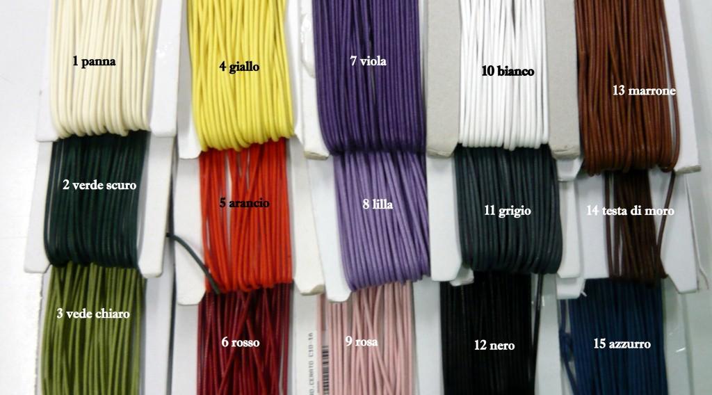 cordone cerato coloritura