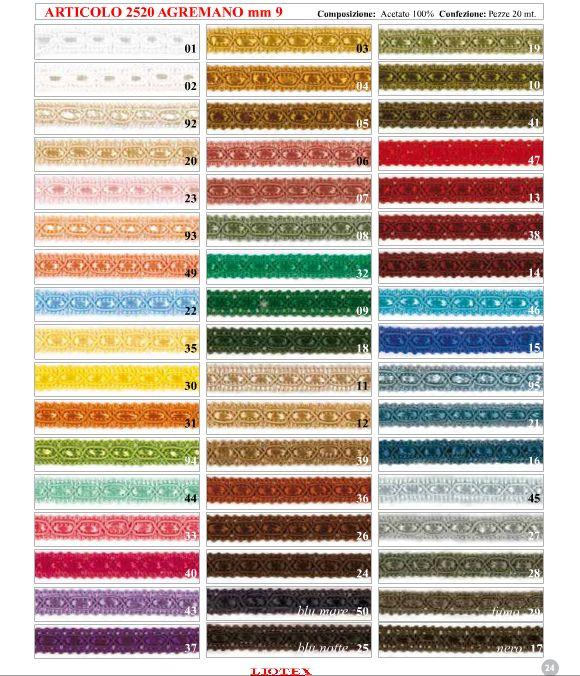 colori art 2520 e 2010 liotex