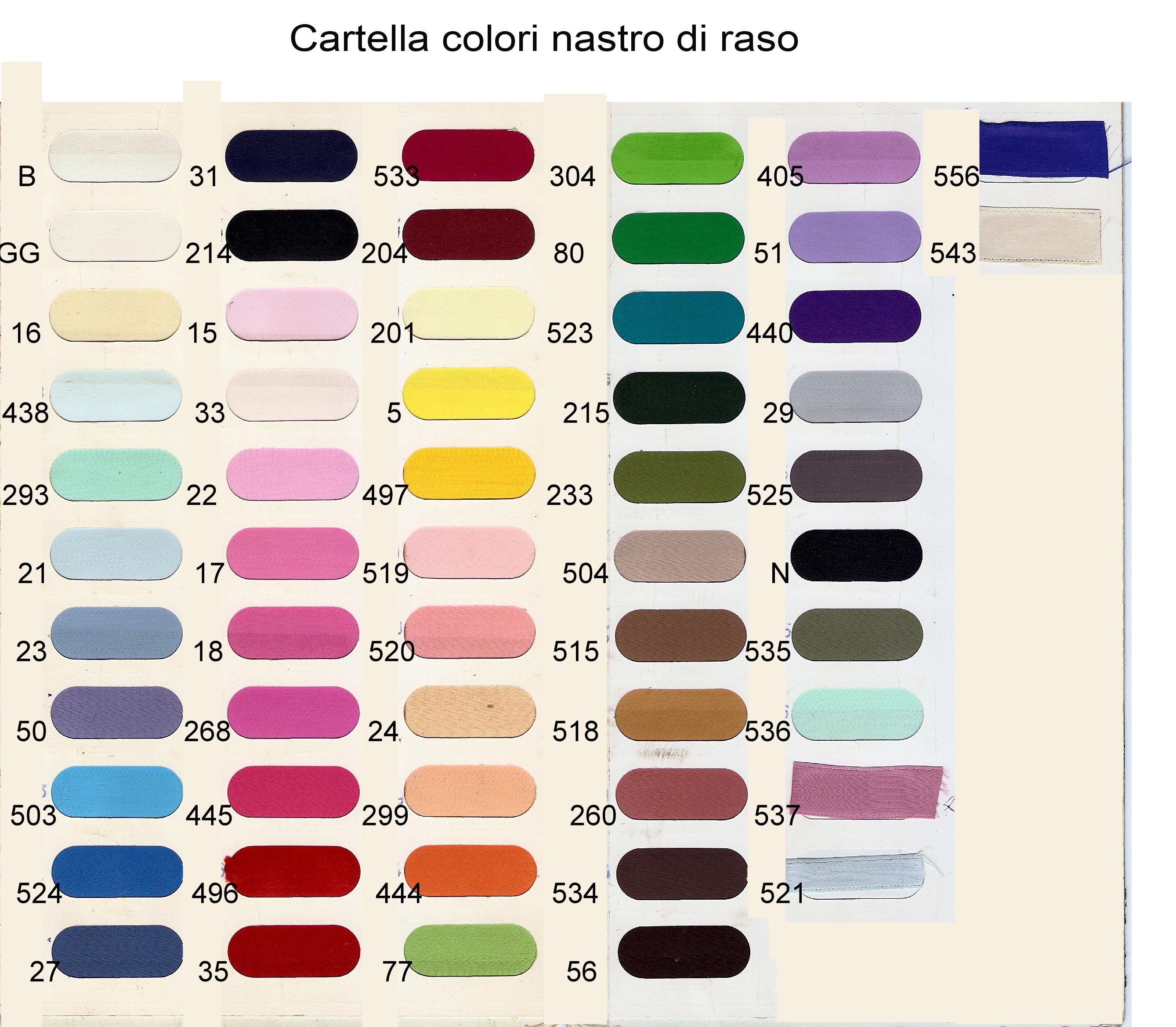 Nastro di raso 100 viscosa merceria cheri rimini for Ottanio colore wikipedia