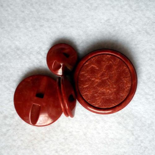 Bottone Piatto Sfumatura A Bassorilievo