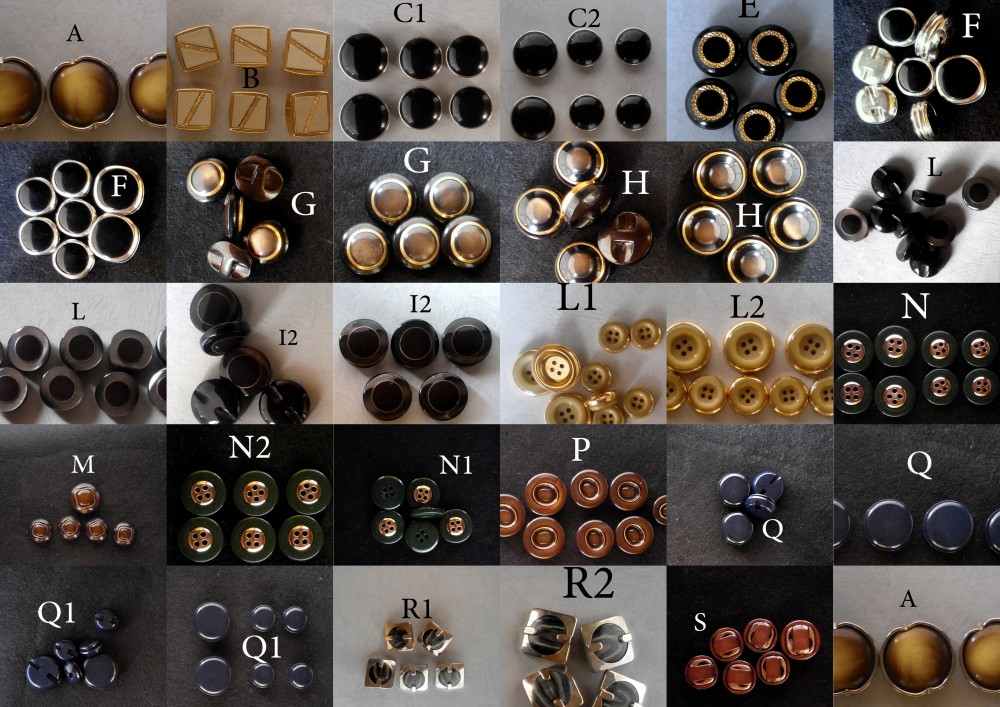 Set di bottoni vintage degli anni 60/708