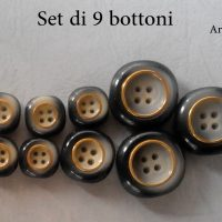 Set Bottoni Fine Anni 60