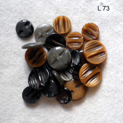 24 Bottoni Vintage Anni 70 (art. L73)