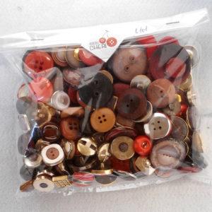 Bottoni Vintage- Sfumature Di Rosso