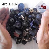 Bottoni Vintage – 100 Bottoni BLU