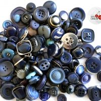 Blu Vintage 100 Bottoni Selezionati