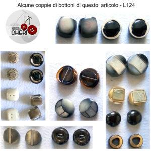 Bottoni Vintage 50 Coppie 100pz