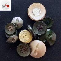 14 Bottoni Vintage Con Passamaneria