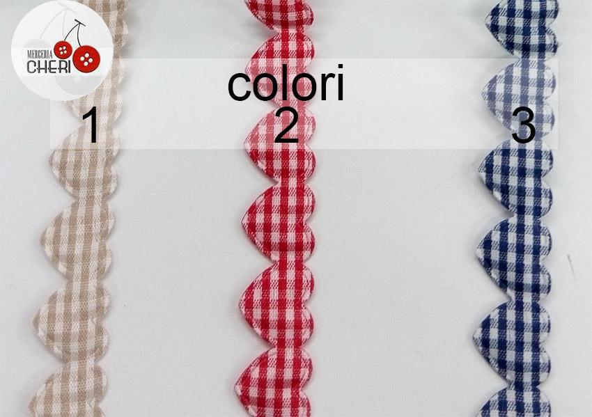 fettuccia cuoricini colori