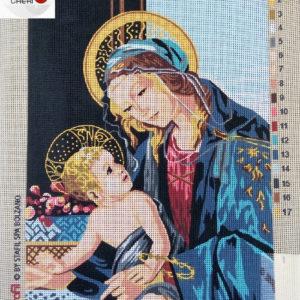 Canovaccio Cm 30×40 Madonna Con Bambino