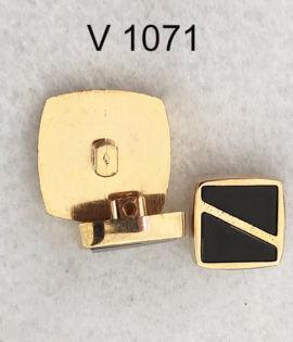 Bottone vintage quadrato anni 70